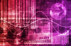 Analisi di dati di statistiche illustrazione di stock