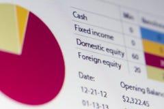 Analisi di finanza Fotografie Stock