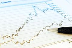 Analisi di finanze fotografie stock libere da diritti