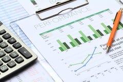 Analisi di investimento aziendale fotografie stock