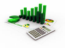 Analisi di statistica Fotografia Stock