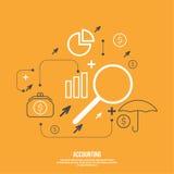 Analisi e gestione finanziaria Fotografia Stock Libera da Diritti