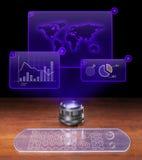 Analisi economica futuristica Immagine Stock Libera da Diritti