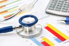 Analisi finanziaria medica Fotografie Stock