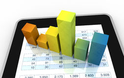 Analisi finanziaria moderna Immagine Stock Libera da Diritti