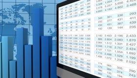 Analisi finanziaria moderna Fotografia Stock Libera da Diritti