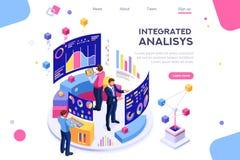 Analisi interattiva di Visualizzation del grafico della gestione illustrazione di stock
