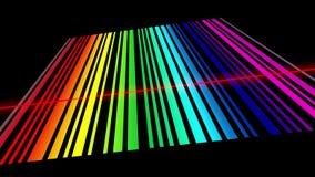 Analisi spettrale, linee di spettro d'esplorazione illustrazione di stock
