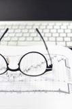 Analisi tecnica del mercato azionario Fotografie Stock
