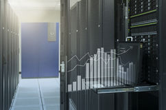 Analisi virtuale del grafico di manifestazione della console di monitor in Ce di dati Immagini Stock