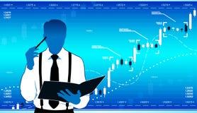 Analista del negocio stock de ilustración