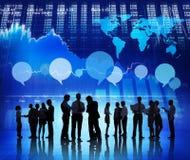 Analista financiero del negocio en el mercado de acción Fotografía de archivo