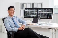 Analista finanziario immagine stock