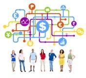 Analista Group Concept de las finanzas de la gente de la diversidad Fotografía de archivo