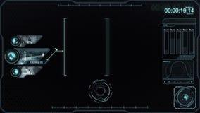 Analisys del monitor de la vigilancia stock de ilustración