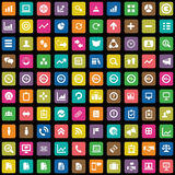 100 analityka, badawcze ikony ustawiać Obrazy Stock