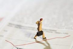 analityka biznesowy flatline wykresu troubleshooting Fotografia Stock