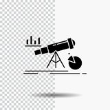 Analityka, finanse, prognoza, rynek, przepowiednia glifu ikona na Przejrzystym tle Czarna ikona ilustracji