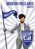 Analityka freelancer projekta pojęcie Obrazy Stock