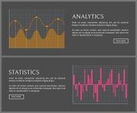 Analityka i statystyki dane na Internetowych stronach ilustracja wektor