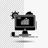 Analityka, mapa, seo, sieć, Ustawia glif ikonę na Przejrzystym tle Czarna ikona ilustracji