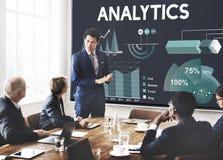 Analityka Wprowadzać na rynek Biznesowego raportu pojęcie Zdjęcia Stock
