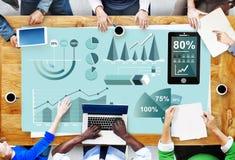 Analityka Wprowadzać na rynek Biznesowego raportu pojęcie Obrazy Stock