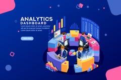 Analityki deski rozdzielczej analityka deski rozdzielczej Pieniężny sztandar ilustracja wektor