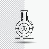 Analiza, analityka, bankowość, biznes, pieniężna Kreskowa ikona na Przejrzystym tle Czarna ikona wektoru ilustracja ilustracja wektor