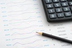 analiza biznes sporządzać mapę monet szkieł papierów raporty zdjęcia royalty free