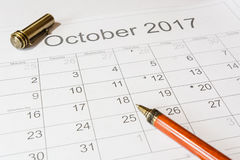 Analiza kalendarzowy Październik fotografia royalty free