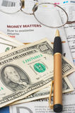 analiza rynku kalkulator gotówkowych pieniądze Zdjęcie Royalty Free