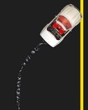 Analizado con el derramamiento de petróleo - camino americano Imagen de archivo libre de regalías
