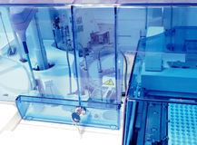 Analizador bioquímico. Equipo de laboratorio. Fotos de archivo