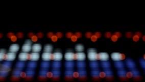 Analizador de espectro acústico del equalizador de la imagen EQ almacen de video