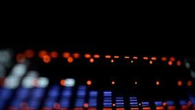 Analizador de espectro acústico del equalizador de la imagen EQ metrajes