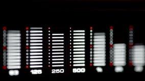 Analizador de espectro audio almacen de metraje de vídeo