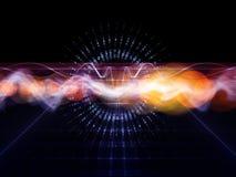 Analizador de onda abstracto stock de ilustración