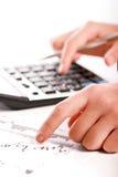 Analizar datos financieros Imagen de archivo libre de regalías
