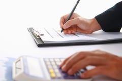 Analizar ganancias de la renta foto de archivo libre de regalías