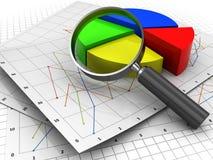 Analizing Geschäft Lizenzfreie Stockfotografie