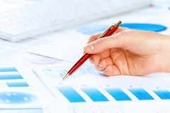 Analizować raport Zdjęcie Stock