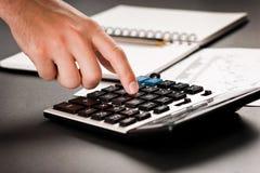 analizujący dane pieniężnego Obrazy Stock