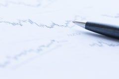 analizujący dane pieniężnego Fotografia Stock