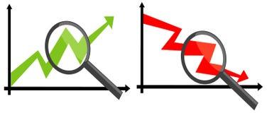 analizuje głębokiego wykres Obrazy Stock