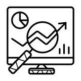 Analizy ikony wektor royalty ilustracja