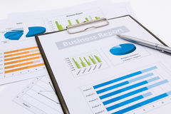 analizy wykresów rynku zapas Zdjęcie Stock