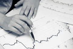 analizy wykresów rynku zapas fotografia stock