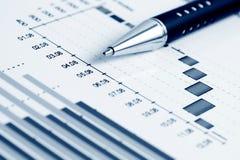 analizy wykresów rynku zapas Obrazy Stock