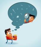 Analizzare comprensione del cliente illustrazione di stock